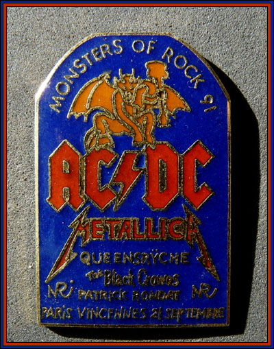 Acdc monsters of rock 91