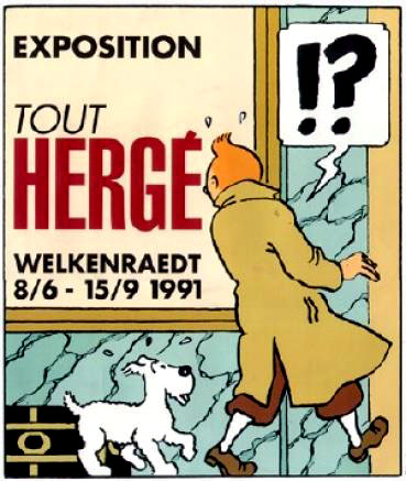 Affiche expo tout herge 1991