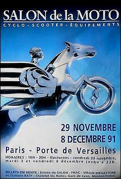 Affiche salon de la moto 1991