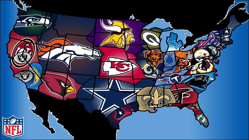 American football map