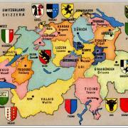 Carte cantons suisses