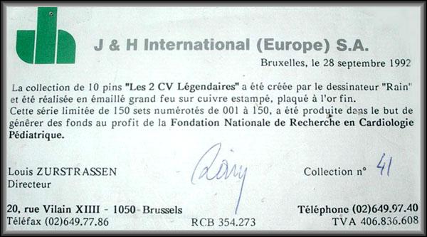 Certificat 2cv