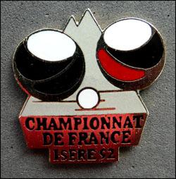 Championat de france de petanque isere 92