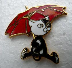 Chat parapluie