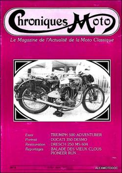 Chroniques moto n 1