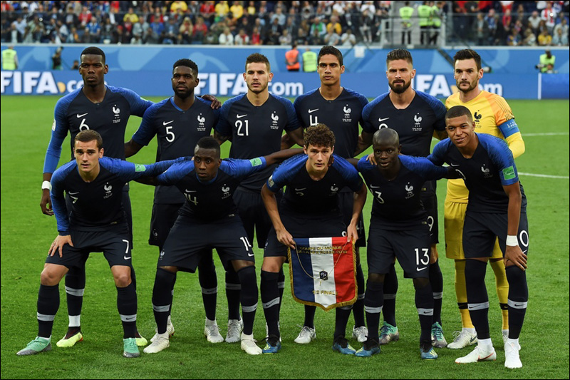 Equipe de france de football le 10 juillet 2018 a saint petersbourg 1