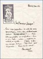 Jacques tardi lettre autographe 7 de cembre 1982 1