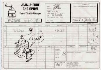 Jacques tardi lettre autographe 7 de cembre 1982