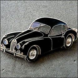Jaguar xk 140 bleue 250