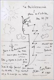 Jean cocteau la mediterranee 1960