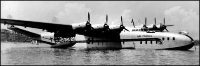Le Laté-631 d'Air-France (F-BDRC) sur le lac Léman dans la rade de Genève, du côté de Cologny, les 12-14 juin 1948.