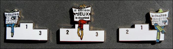 Le dauphine podiums