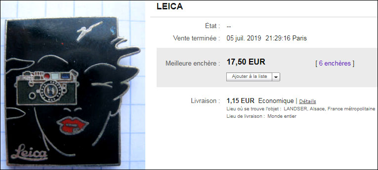 Leica vendu