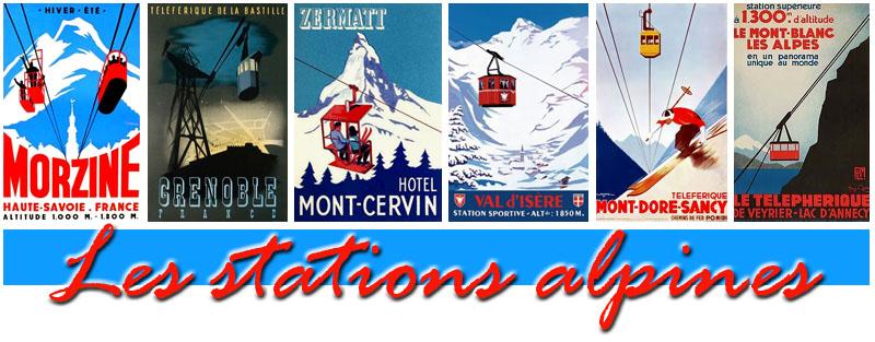 Les stations alpines titre