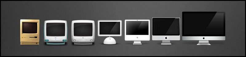 Macintosh mac apple evolution
