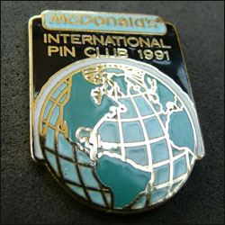 Mc do international pin club 1991