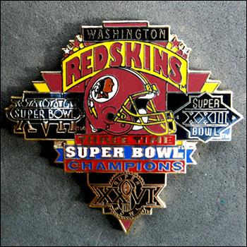 Redskins 3 times