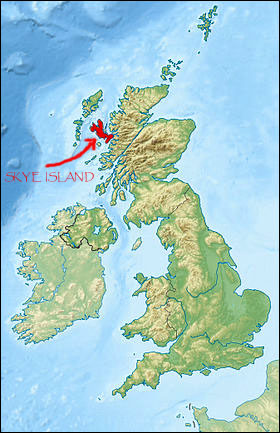Skye island map