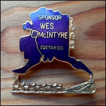Sponsor wes mcintyre iditarod 1985
