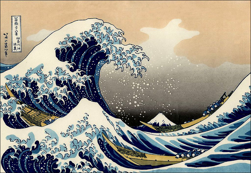 The great wave of kanagawa hokusei