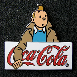 Tintin coca cola blanc